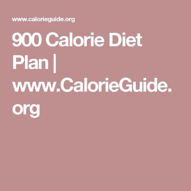 900 Calorie Diet Plan | www.CalorieGuide.org