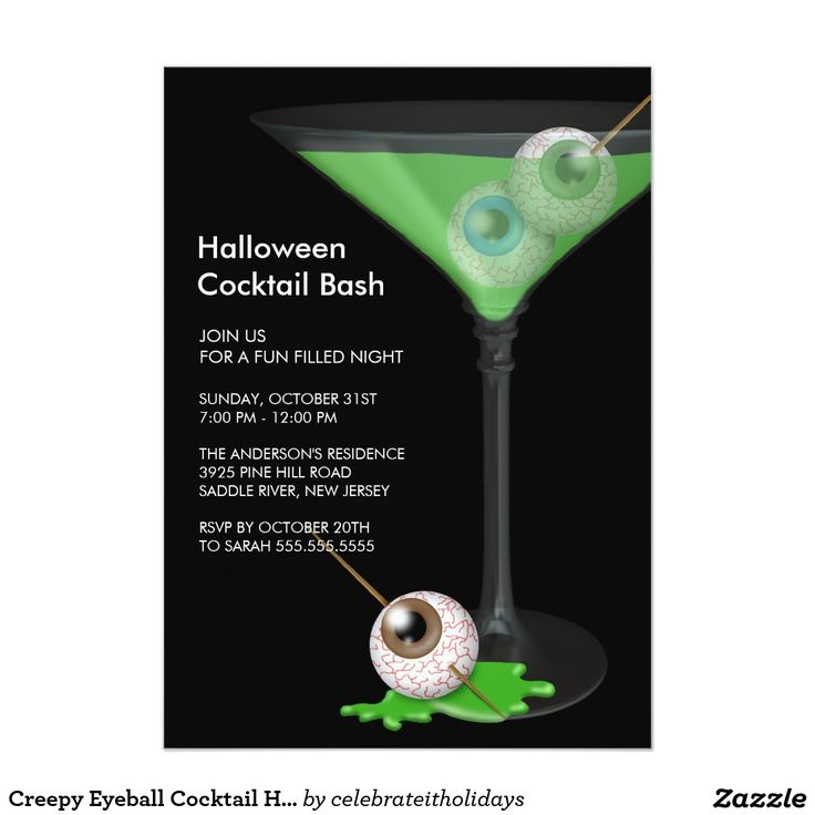 113 best trick or treat halloween party images on pinterest creepy eyeball cocktail halloween party invitation stopboris Images
