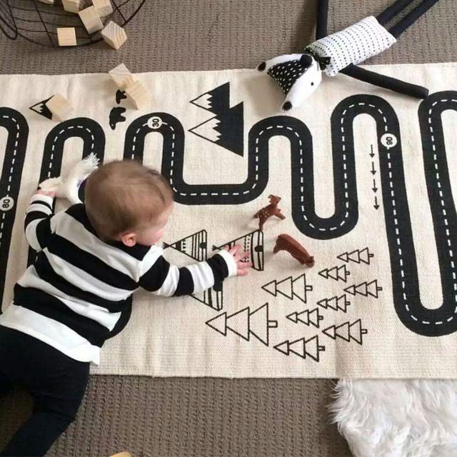 1 stks baby racing games avontuur kind kamer decoratie speelmatten voor meisjes en jongens