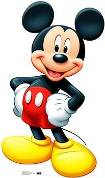 This 44 inches high x 28 inches wide cardboard Mickey Mouse standee will be a great addition to your little one's birthday party. Use it to create a fun photo op!