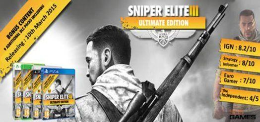 Sniper Elite III Ultimate Edition game releasing on March10 for PS4, PS3, Xbox One and Xbox 360  Read More: http://www.techmagnifier.com/news/sniper-elite-3-ultimate-edition-game-releasing-march10-ps4-ps3-xbox-one-xbox-360/   #Games #PS3 #PS4 #Sniper #Elite #III #Ultimate #Edition #Video #Games