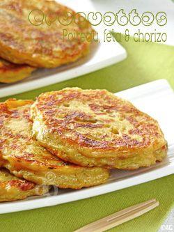 Leek Croquettes Chorizo & Feta - In French language