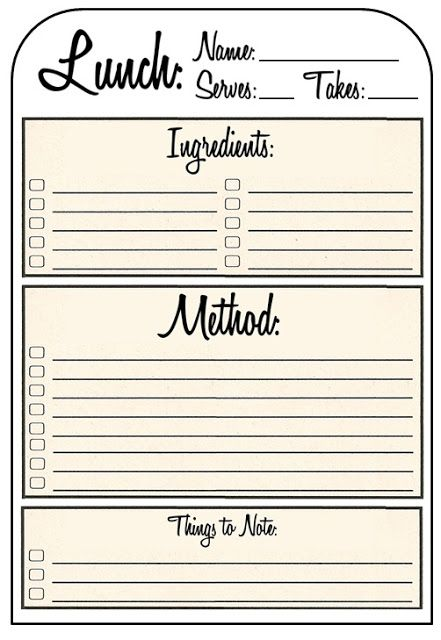 98 best images about Recipe card templates – Recipe Card Templates for Word