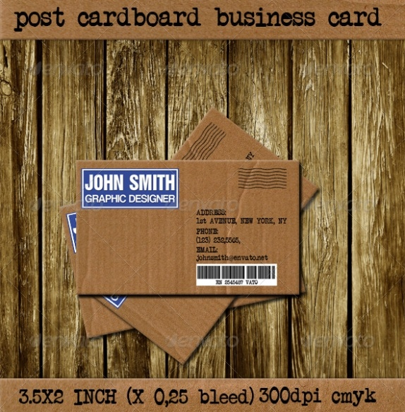 Post Board Visit Card Template best namecard