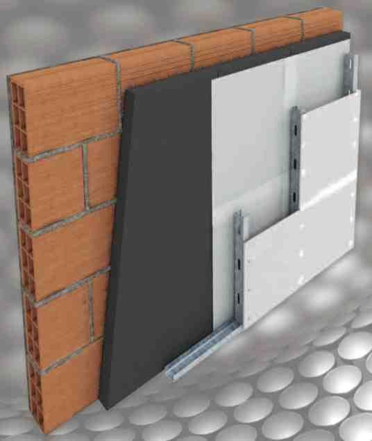 Inteplac (placa termoaislante + barrera de vapor). Polinorte SA (www.polinorte.com) Placa aislante térmica Neotech de alta densidad revestida en una de sus caras con una lámina de Poliestireno Alto Impacto que cumple la función de barrera de vapor. Es ideal para resolver con un solo producto, la aislación térmica junto con la barrera de vapor en paredes, techos y pisos desde el interior de los ambientes.