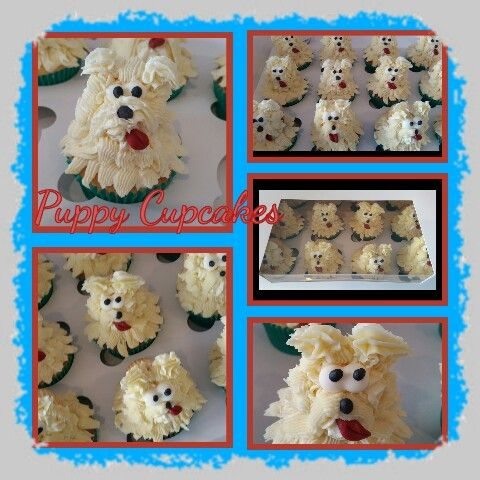 Puppy cupcakes Dog cupcakes #cakesbykathleen