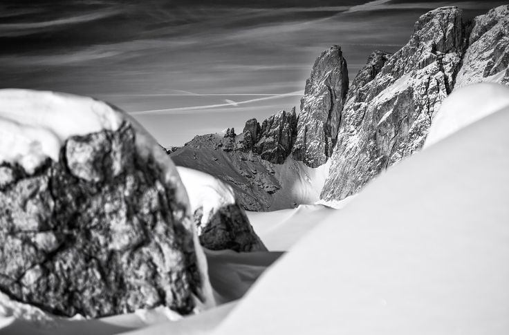 The tower - Winter Landscape over the Sella