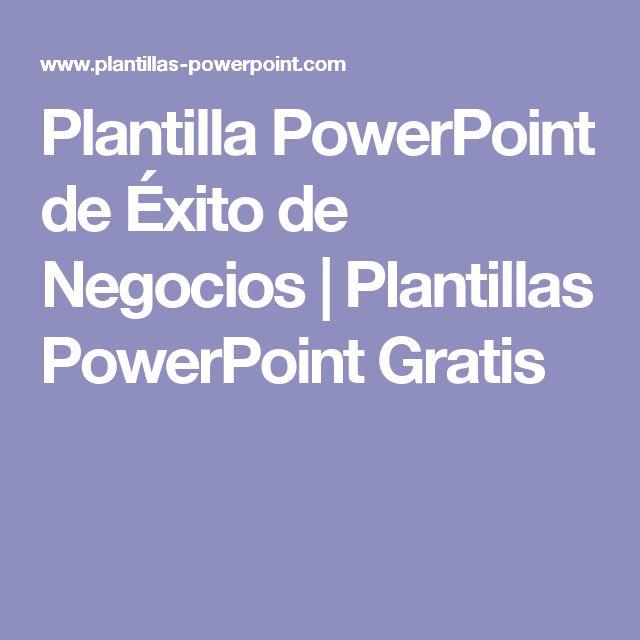 Plantilla PowerPoint de Éxito de Negocios   Plantillas PowerPoint Gratis