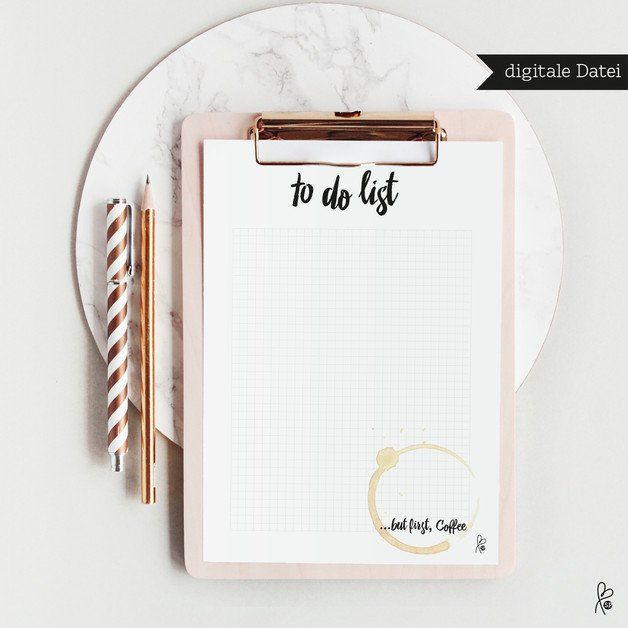 Printable / To do list …but first coffee / A4