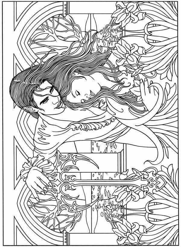 181 best adult coloring fantasy images on pinterest