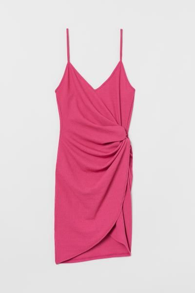 df80f1732018 H&M Short Wrap Dress - Pink in 2019 | Once in a blue moon, I go out ...