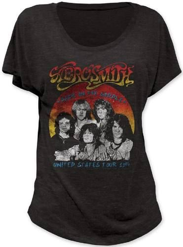 Ladies classic Aerosmith concert t-shirts are now at Rocker Rags! Click here for vintage dolmans from the band's 1984 US Tour. Free Shipping!