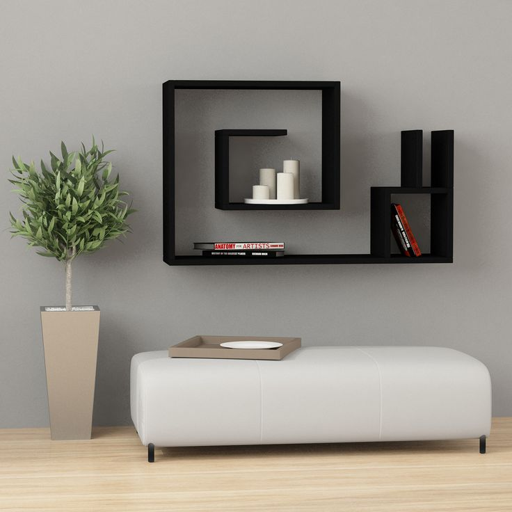 This simple and popular modern style wall shelf has an innovative space-saving design while being both decorative and functional. The simple contemporary design will fit any decor in your space. Easy