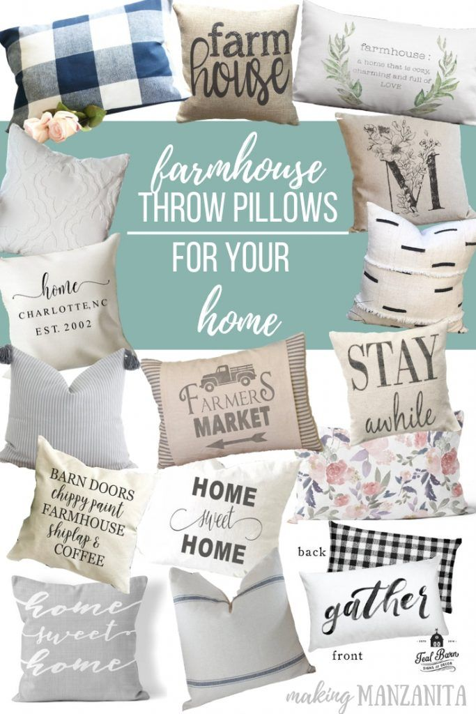 6b244b4600 Love farmhouse style decor? If you're looking for pieces to add in your farmhouse  style home, here are some farmhouse throw pillows that you're definitely ...