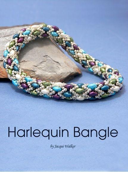 Harlequin Bangle - found inside DIY Jewelry Making Magazine #37