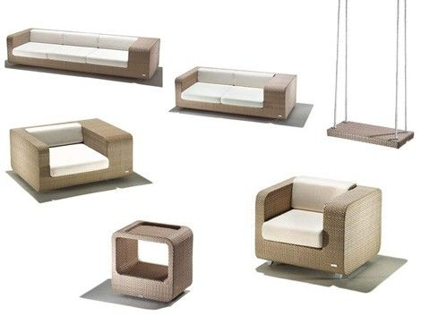 Modern Chairs | Modern Patio Furniture Set - new Hug patio set by Schoenhuber Franchi