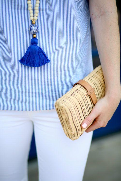Design Darling Cricket blue tassel necklace.
