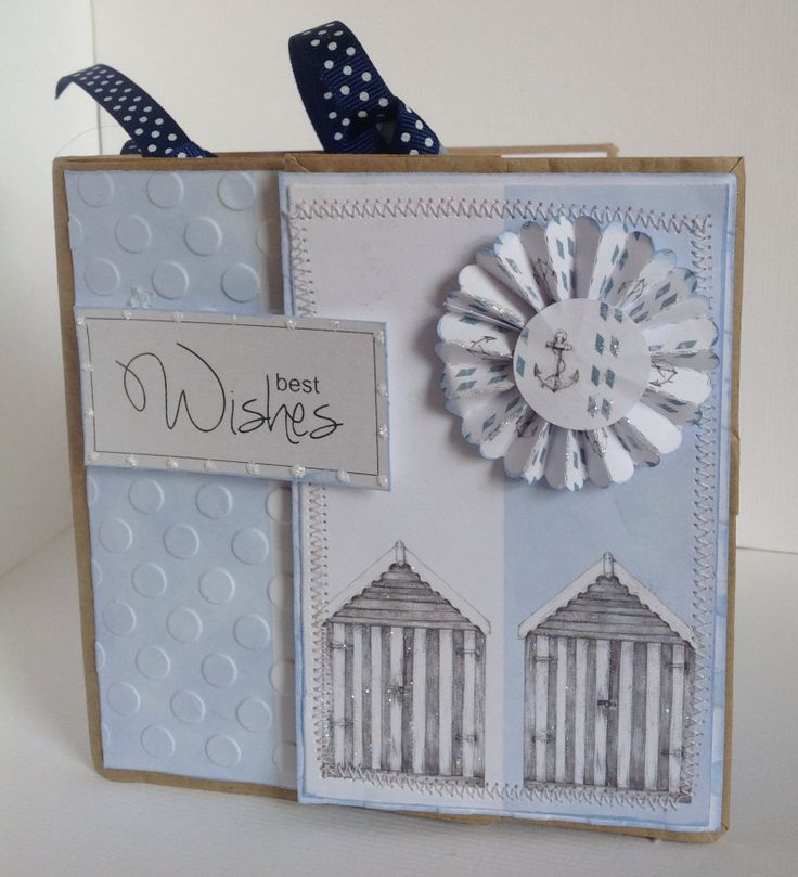 Paper Bag Card designed by Kay Fletcher using Harbour Boulevard Paper Pad.