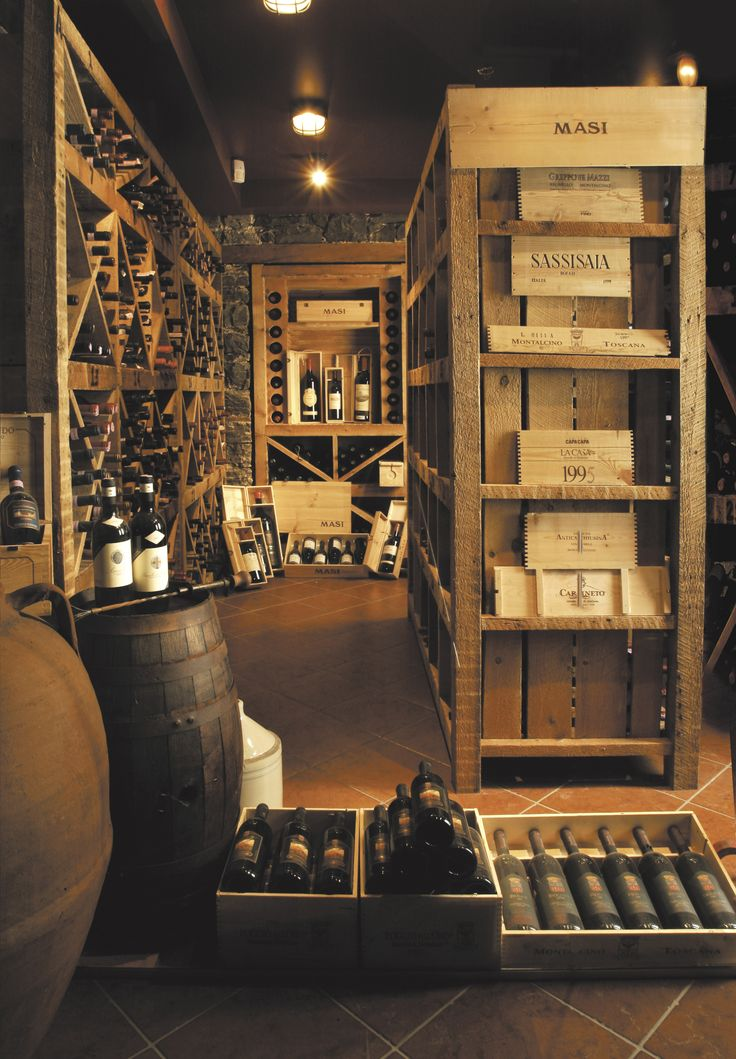 Gorgeous vintage-style traditional wine cellar