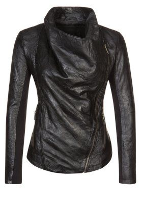Cigno Nero - STELLA - Leather jacket - black