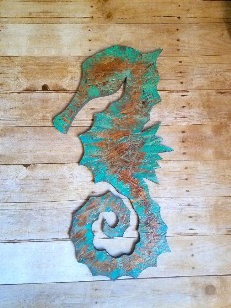 Wood seahorse decor, beach house sign, reclaimed wood, wall hangings, nautical decor, coastal decor, ocean decor, nautical by RusticReformation on Etsy https://www.etsy.com/listing/465511996/wood-seahorse-decor-beach-house-sign