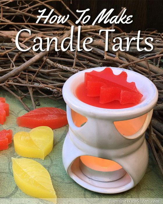 DIY Scented Candle Tarts - Learn to make aromatic wax candle melts using a silicone leaf baking mold! The step by step how to includes a complete video tutorial along with photos and written instructions. Fun home accent project for fall. Great gift craft, too!