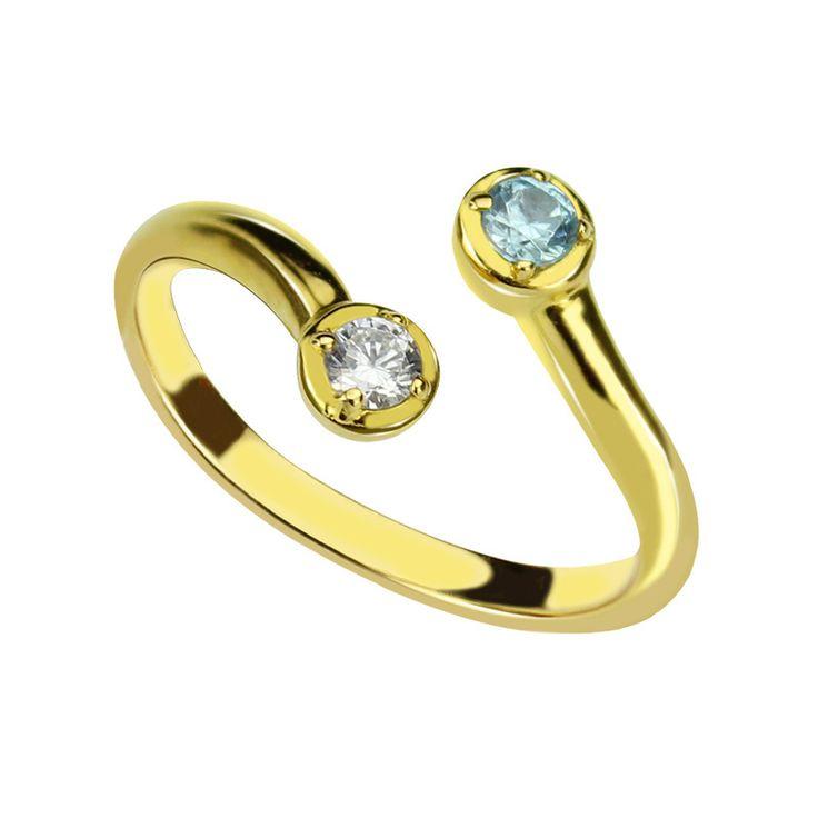 Купить товарПерсонализированные 18 К Позолоченные Двойной Камень Кольца Матери кольцо, стекируемые Два камнях кольцо, пары ювелирные изделия в категории Кольцана AliExpress. два камня, совершенно в паре. отличный подарок для мамы, она будете ценить и думать о вас на долгие годы. две маленькие