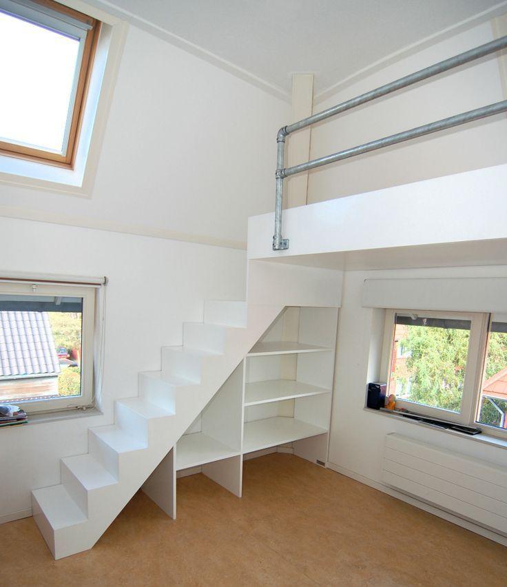 25 beste idee n over droom tiener slaapkamers op pinterest tiener slaapkamers decoreren - Mezzanine jongen ...