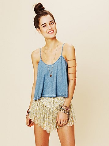 fp: Summer Outfit, Coachella, Shirts, Clothing, Festivals, Prints Skirts, Free People, Lace Shorts, People Style