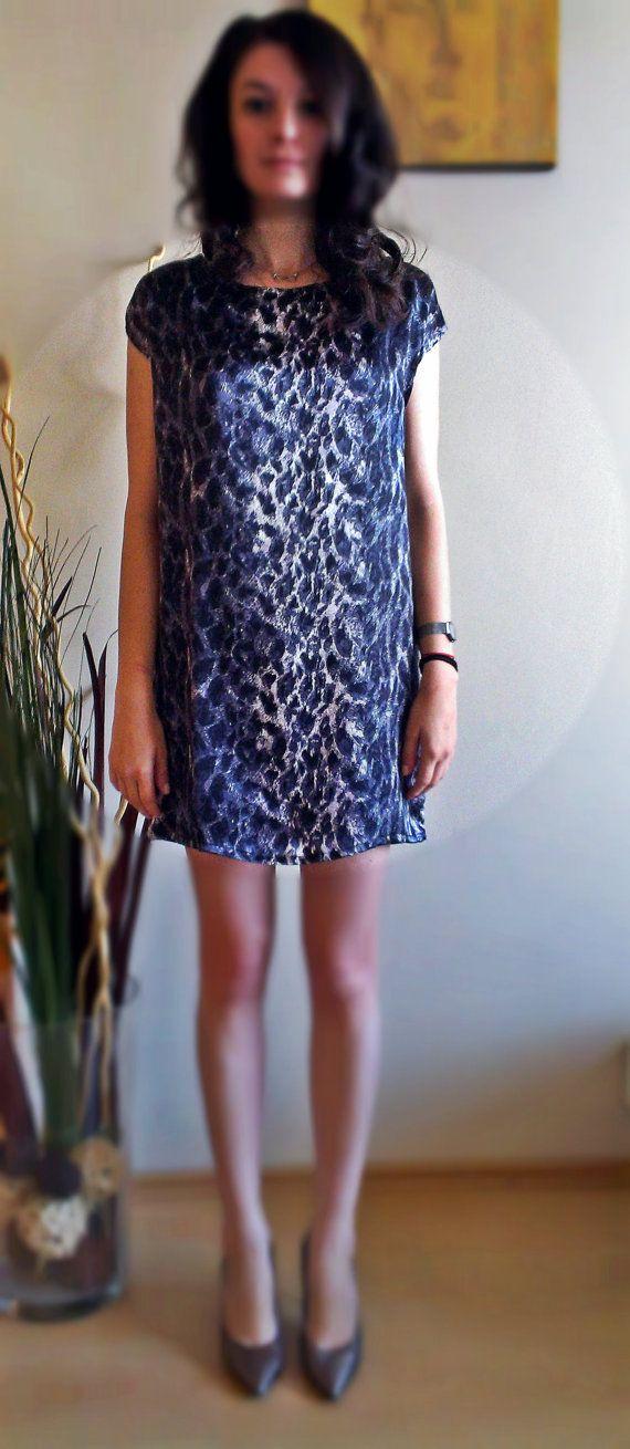 Animal Print Silk Dress Silk Dress Mini by PrincipessaLabel, $135.00