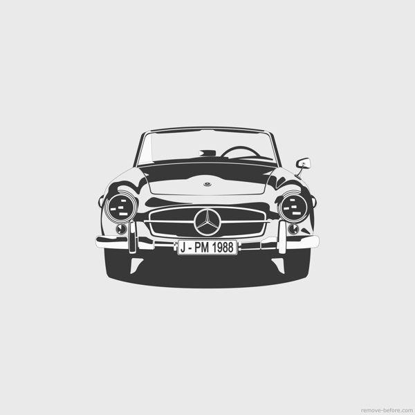 Mercedes SL 190 by Marc Carreras, via Behance