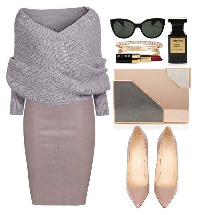 tobacco vanille by etana-e on Polyvore featuring polyvore fashion style Jitrois Lee Savage Cartier Mattia Cielo Oliver Peoples Bobbi Brown Cosmetics Tom Ford Christian Louboutin clothing StreetStyle casual simple luxury contestentry