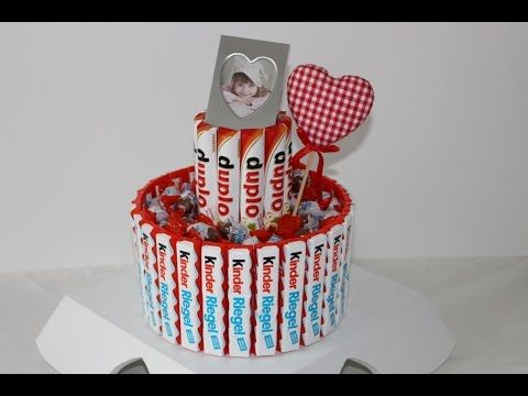Torte mit Twix und Kinder Riegel /Geschenk /Geburtstag /Prezent na urodziny/Gift - YouTube
