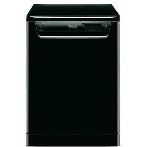 Lave vaisselle Hotpoint 60 cm, 14 couverts, 41 dB, 10 litres, A+/A/A, noir.