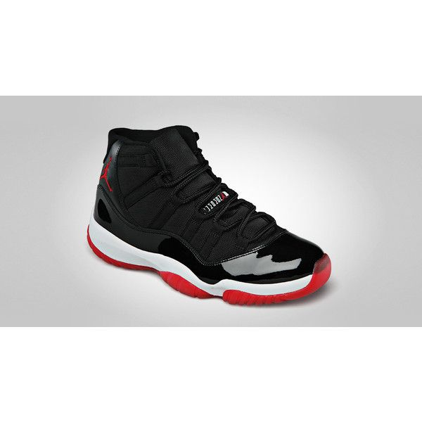 Air Jordan Retro 11 Black/Varsity Red-White Official Images ❤ liked on  Polyvore
