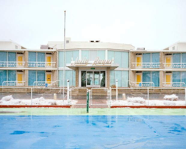 Jolly Roger Motel Gold Crest Resort Motel Caribbean Motel Photographer Tyler Haughey compares visiting the motels of Wildwood, New Jerseyon the off-season to wandering onto a film set after the cast and crew has departed. For nine months of the year, the lights are switched off, the windows are shuttered, and the doors are locked. …