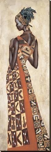 Femme Africaine II Pósters por Jacques Leconte en AllPosters.es