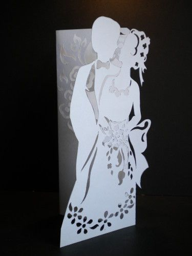Kirigami pop up wedding card with template!