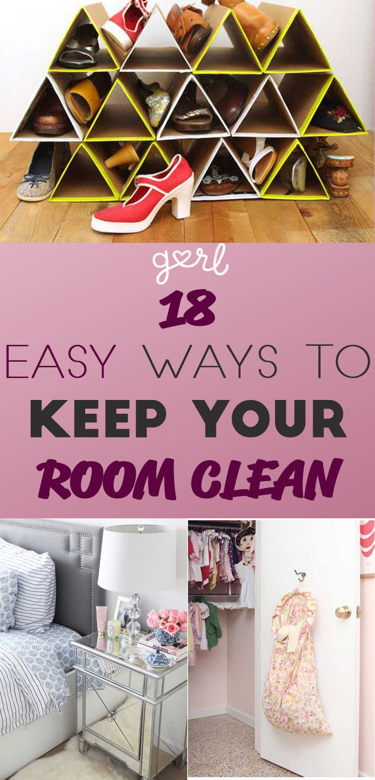 18 Easy Ways To Keep Your Bedroom Clean Even Lazy Girls