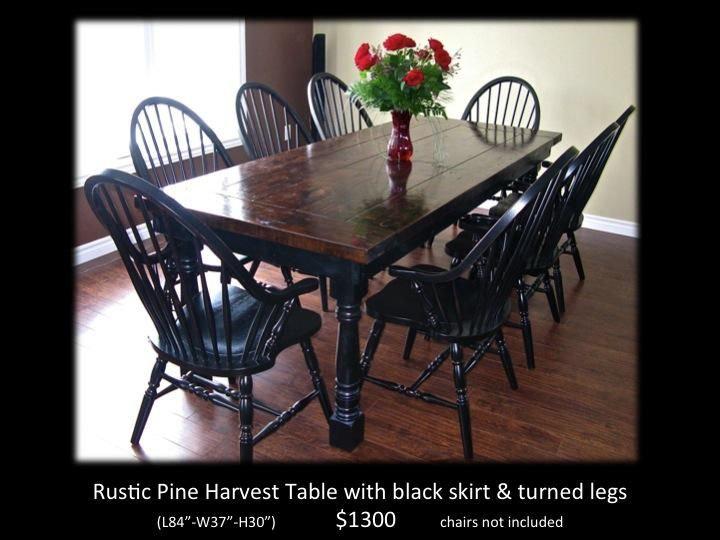 Rustic Distressed Harvest Table Chairs Benches Coffee Buffet