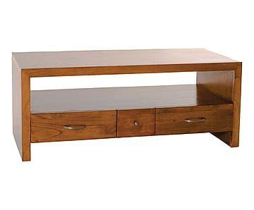 Mueble de tv de madera de mindi y contrachapado VI