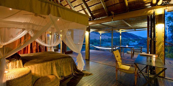 Bedroom at Namibia Safari Camp Serra Cafema. Namibia Lodges. #NamibDesertLodge #NAMIBIA