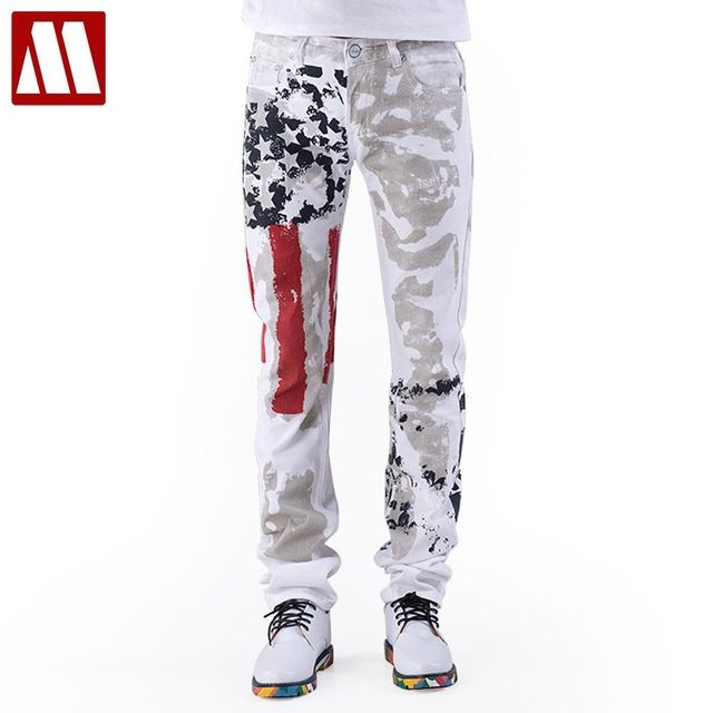 Check current price American Flag Men Jeans 2016 New Arrival Floral Print Straight Jean Stars and Stripes Pants USA Flag Fashion Pants for Men just only $25.92 with free shipping worldwide  #jeansformen Plese click on picture to see our special price for you