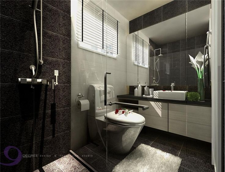 Punggol 5 room hdb design at 30k hdb home decor ideas for Toilet room in master bath
