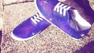 DIY Galaxy Shoes / Hazlo tu mismo Zapatos Galaxia - YouTube