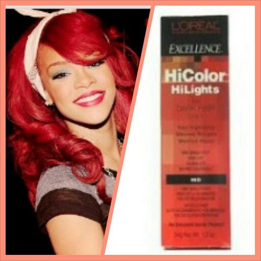 Loreal Hair Color Red Hot Rihanna Use L39oreal Hicolor U Can It At Sallys Pinterest
