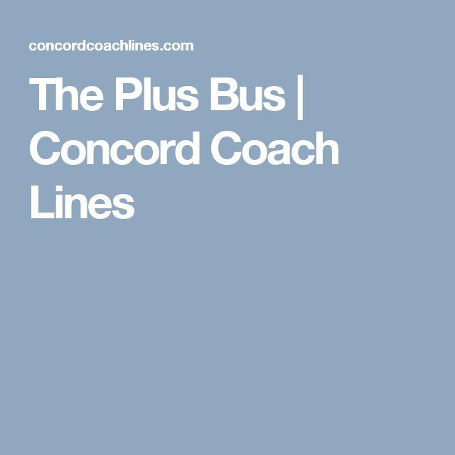 The Plus Bus Concord Coach Lines Concord Portland Coach