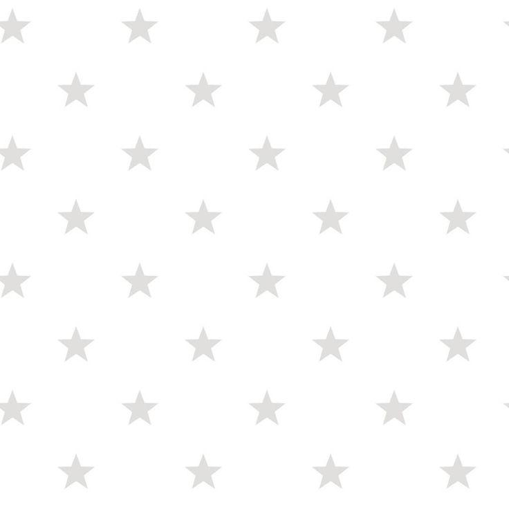 Noordwand sterren behang in wit grijs kidsroom wallpaper pinterest - Grijs behang ...