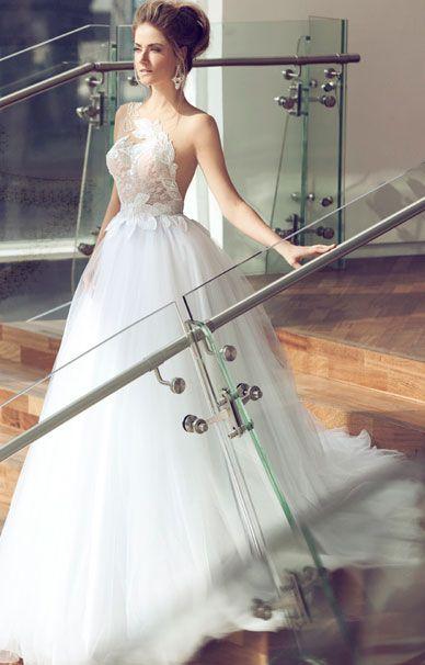 Nerit Hen свадебное платье с узорами в виде цветов | смотреть фото цены купить