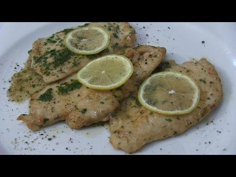 Scaloppina di Pollo al Limone, Petto di Pollo al Limone Video ricetta - VIDEO RICETTE